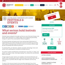 Festivals & Events Careers