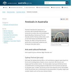 Festivals in Australia