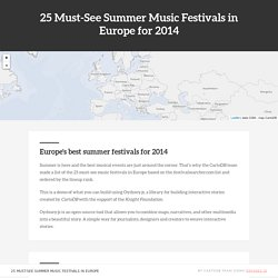 25 must-see Summer Music Festivals in Europe