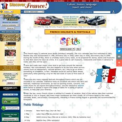French National Holidays, Festivals, Religious Celebrations