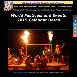 Festivals and Events Calendars 2015 with compact information