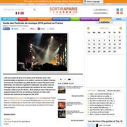Guide des Festivals de musique 2016 partout en France