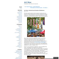 Art Fairs, Festivals and Outdoor Exhibitions