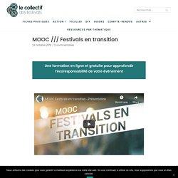 Le Collectif des festivals MOOC /// Festivals en transition