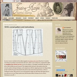 Festive Attyre: 1910s corset pattern and instructions