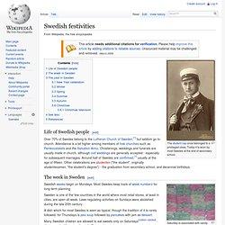 Swedish festivities