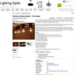 Festoon Party Lights - 20 Clear Lamps