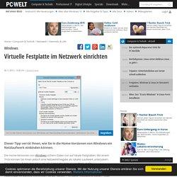 Virtuelle Festplatte im Netzwerk einrichten