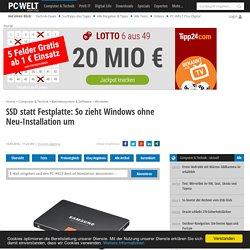 SSD statt Festplatte: So zieht Windows ohne Neu-Installation um - Artikel