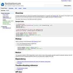 festselenium - fest + selenium for applet automation testing