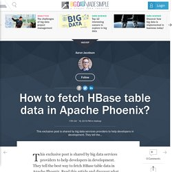 How to fetch HBase table data in Apache Phoenix?