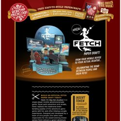 Fetch iOS OFFICIAL Paper Craft Toy by www.DesktopGremlins.com – Easy-to-build Free Paper Craft, Paper Model, Paper Toys