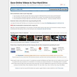 CatchYouTube.com the Free Online YouTube Video Converter - Download and Save YouTube Videos Online direct to PC, iPod, PSP, iPhone, mp3, mp4 and Mobile. Convertor catchvideo.net