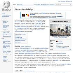 21 juillet : Fête nationale belge