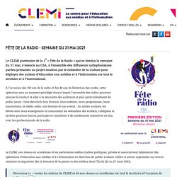 Fête de la radio - Semaine du 31 mai 2021- CLEMI