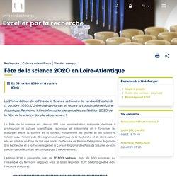Fête de la science 2020 en Loire-Atlantique