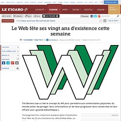Le Web fête ses vingt ans d'existence cette semaine