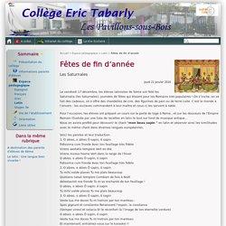 Fêtes de fin d'année - Collège Éric Tabarly