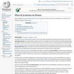 Fêtes de la lecture en France