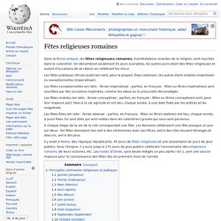 Fêtes religieuses romaines