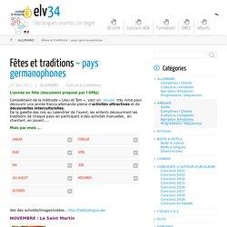 Fêtes et traditions – pays germanophones