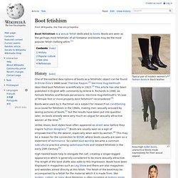 Boot fetishism