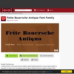 Fette Bauersche Antiqua Font Family