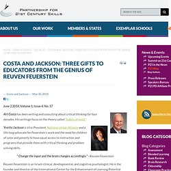 Costa and Jackson: Three Gifts to Educators from the Genius of Reuven Feuerstein
