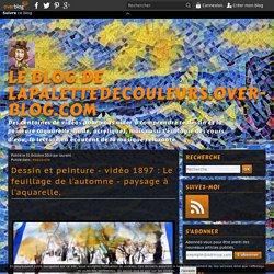 vidéo 1897 : Le feuillage de l'automne - paysage à l'aquarelle.