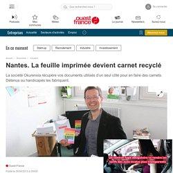 Nantes. La feuille imprimée devient carnet recyclé