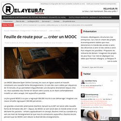 Feuille de route pour … créer un MOOC
