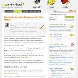 Une feuille de styles de base pour le Web mobile