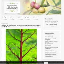 Salade de feuilles de betterave et sa brousse citronnée - recette facile