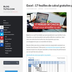 Excel : 17 feuilles de calcul gratuites pour faciliter votre vie