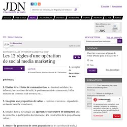 Les 12 règles d'une opération de social media marketing - Intern