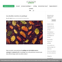 Les feuilles mortes en paillage - Le potager permacole