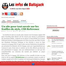 Un site pour tout savoir sur les feuilles de style, CSS Reference