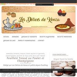 Feuilleté Tressé au Poulet et Champignon - Les Delices de Kenza