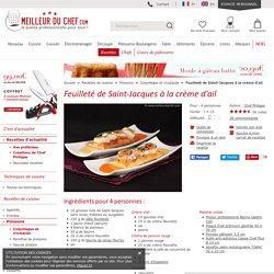 Feuilleté de Saint-Jacques à la crème d'ail - Recette de cuisine illustrée