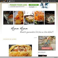 Feuilleté de saumon - Myam Myam
