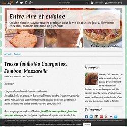 Tresse feuilletée Courgettes, Jambon, Mozzarella - Entre rire et cuisine