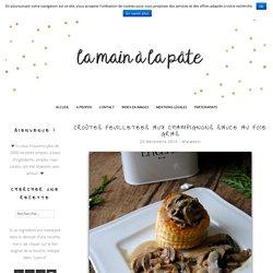 Croûtes feuilletées aux champignons sauce au foie gras -