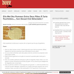 Elle Met Des Pommes Entre Deux Pâtes À Tarte Feuilletées… Son Dessert Est Délectable ! »