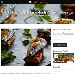 Feuilletés de sardines parfumés de zeste d'orange