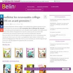 Feuilletez les nouveautés collège 2016 en avant-première ! – La fabrique des manuels