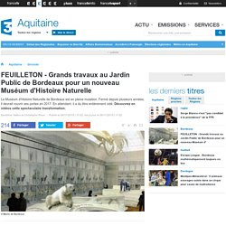 FEUILLETON - Grands travaux au Jardin Public de Bordeaux pour un nouveau Muséum d'Histoire Naturelle - France 3 Aquitaine