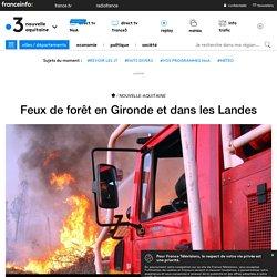 Feux de forêt en Gironde et dans les Landes