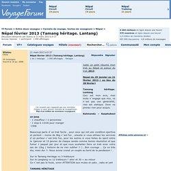 Népal février 2013 (Tamang héritage. Lantang) - Voyage Forum