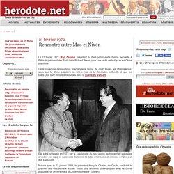 21 février 1972 - Rencontre entre Mao et Nixon - Herodote.net