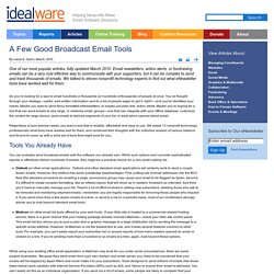 A Few Good Broadcast Email Tools